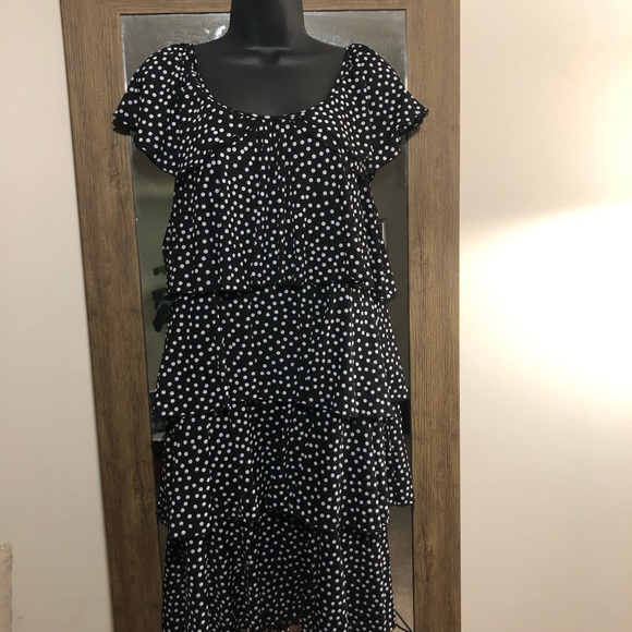 Style & Co Dresses & Skirts - 🆕🆙Style & Co. Tiered Polkadot Dress